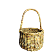 Sweet Little Vintage Wicker Basket with Handle