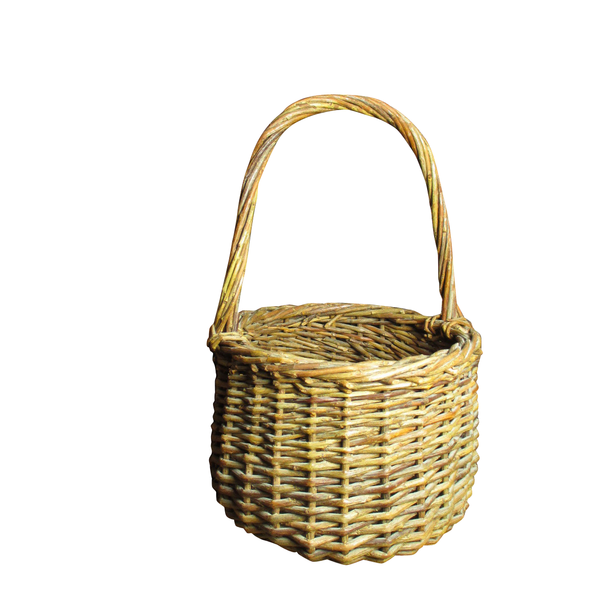sweet little vintage wicker basket with handle from hannahshouseantiques on ruby lane. Black Bedroom Furniture Sets. Home Design Ideas
