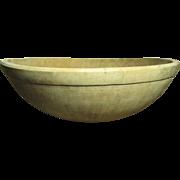 "Grandma's Favorite Huge Early Antique Farmhouse Kitchen Wooden Bowl - 18"""