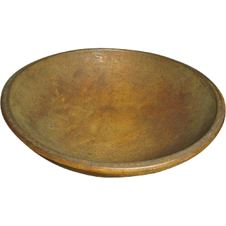 Lovely Early Old MUNISING Wooden Bowl - Dark Attic Finish