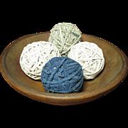 Set of Four Old Vintage Rag Balls