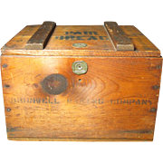 Early Old Bromwell Baking Co. Wooden Hinged Box - Advertising