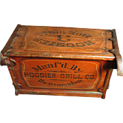 Grandpa's Early Old 'Hoosier Hoe Drill' - Hoosier Drill Co. - Richmond, Ind. - Awesome Orig. Paint and Stencil