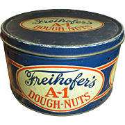Granny's Old Farm Kitchen FREIHOFER'S A-1 Dough-Nuts Advertising Tin