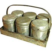 Granny's Sweet and Simple Six Tin Spice Set w. Carrier - Red Tag Sale Item