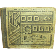 Great Granny's Favorite Old Religious GOOD AS GOLD Hymnal Song Book 1881