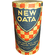 "Grandma's Old Cardboard Oat Box ""New Oata"" - Ralston Purina Company"