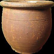 Great Granny's Favorite Old Redware Crock Jar