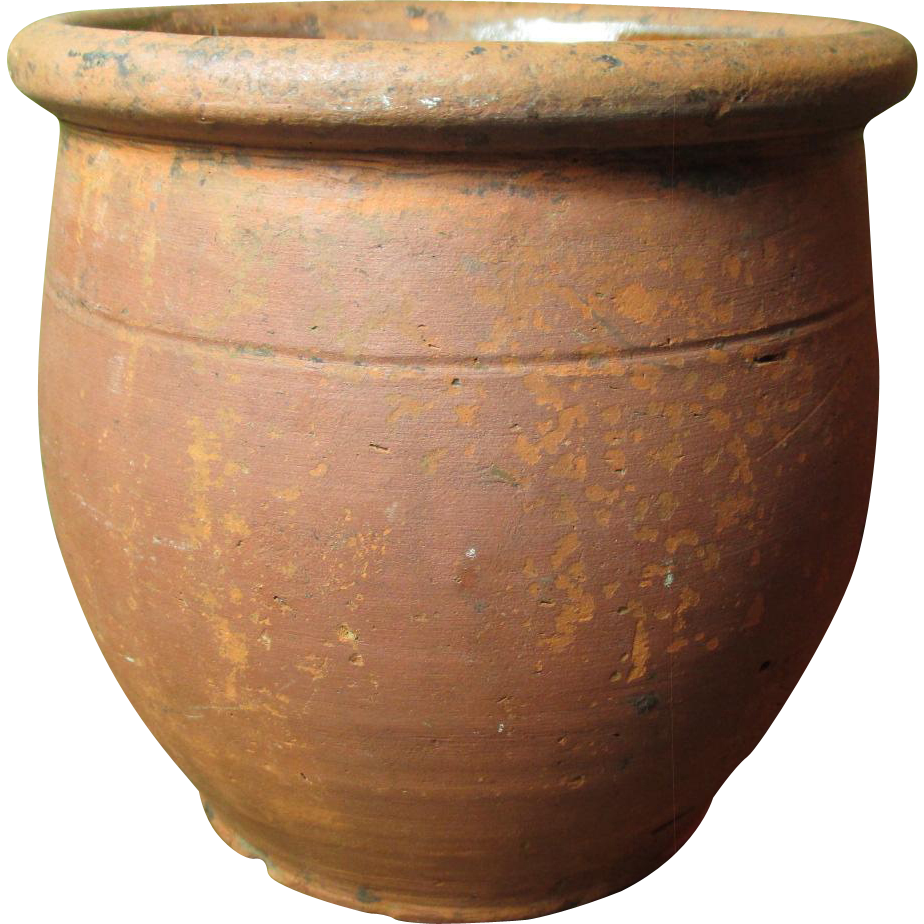 Great Granny's Favorite Old Redware Crock Jar