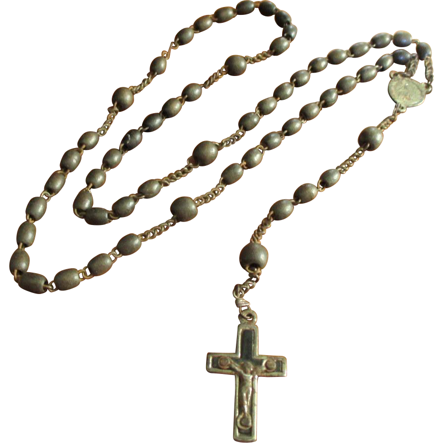 Early Old Vintage Rosary - Marked 'France'