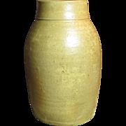 Gorgeous Early Old Farmhouse Kitchen Salt Glazed Stoneware Canning Jar