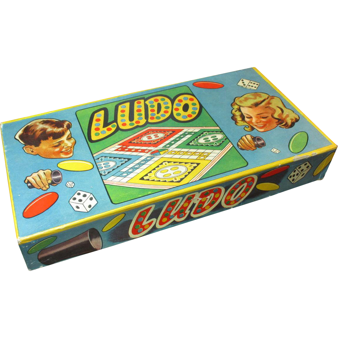 Old Vintage Board Game LUDO - Excellent