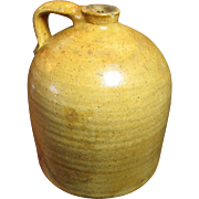 Gorgeous Early Old Antique Large Salt Glaze Stoneware Jug ~ Awesome Color