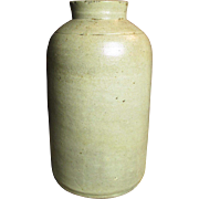 "Wonderful Old Primitive Small Size Salt Glaze Stoneware Jar - 7.5"" Tall"