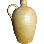 "Beautiful Old Small Sized Salt Glaze Stoneware Jug - 7 3/4"" Tall"