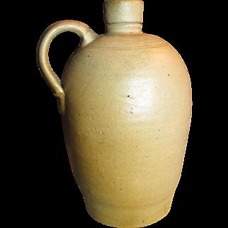 """Beautiful Old Small Sized Salt Glaze Stoneware Jug - 7 3/4"""" Tall"""