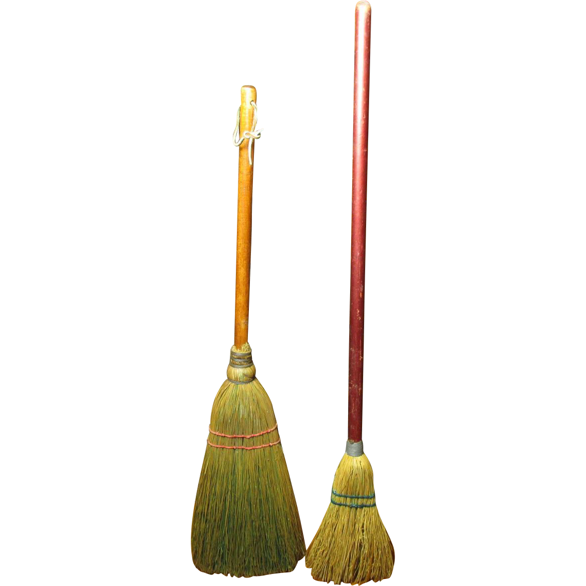 Two Charming Old Small Brooms One Hearth Broom And One