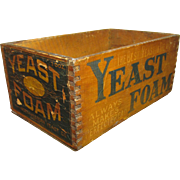 Wonderful Early Old Advertising Box - YEAST FOAM - Northwestern Yeast Co. Chicago IL
