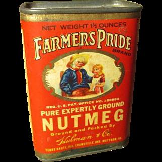 Awesome Old FARMER'S PRIDE Spice Tin - Nutmeg - Vivd Graphics