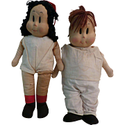 "Rare Georgene Novelties ""Little Lulu"" & ""Tubby Tom"" Dolls"