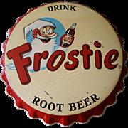 Vintage Large Frostie Root Beer Bottle Cap SIgn