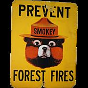 Vintage Smokey the Bear Sign