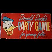 Vintage 1958 Walt Disney Donald Duck Party Game
