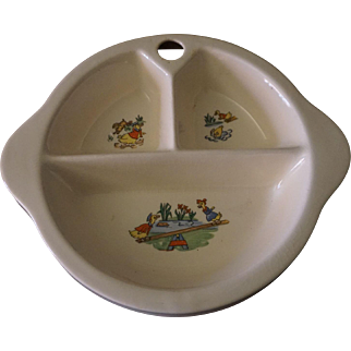 Xcello Child's Divided Bowl - Duck Design