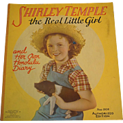 1938 Shirley Temple The Real Little Girl and Her Own Honolulu Diary Book