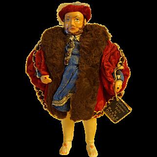 Vintage Peggy Nisbet King Henry VIII Costume Doll