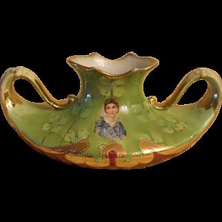 Royal Saxe E.S. Portrait Germany Vase