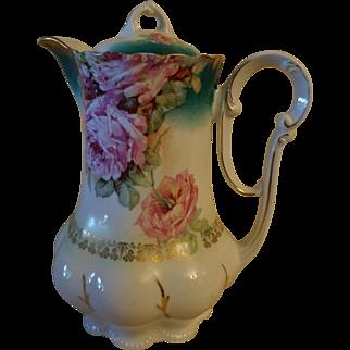 "Rose ""Shabby Chic"" Chocolate Pot Coffee Pot"