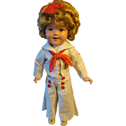 """Large 22"""" Original 1930s Shirley Temple Doll Captain January"""