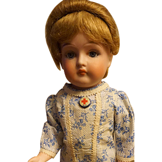 "Exceptional Rare Fulper 16"" Bisque Doll"