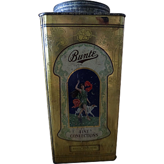 1920s Art Nouveau Bunte Brothers Candy Tin