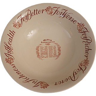 Royal Staffordshire Burslem England Wedding Bowl