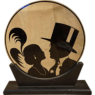 """Putting On the Ritz"" Glass Silhouette"