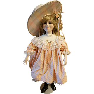 "Pat Thompson signed doll ""Girl in Peach Dress"""