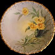 Vintage M R France Porcelain Daisy Plate