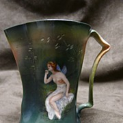 Royal Bayreuth Nude Fairy Pitcher Creamer - Rare