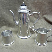 Viners of Sheffield English Pewter Coffee Set