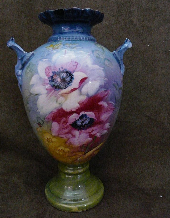 Royal Bonn Germany Franz Anton Mehlem Vase From Happyhoundantiques On Ruby Lane
