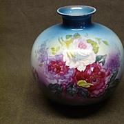 Large Royal Bonn Franz Anton Mehlem Floral Vase