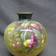 "Royal Bonn 8"" Ball Vase with Pretty Cherries"