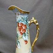 Tressemann & Vogt Limoges France Hand Painted Ewer / Pitcher