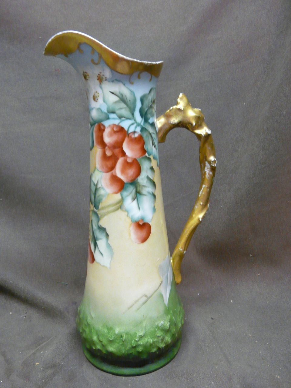 Tressemann & Vogt Limoges France Hand Painted Ewer / Pitcher
