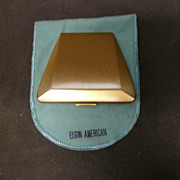 Elgin American Gold Tone Compact - Unusual Shape