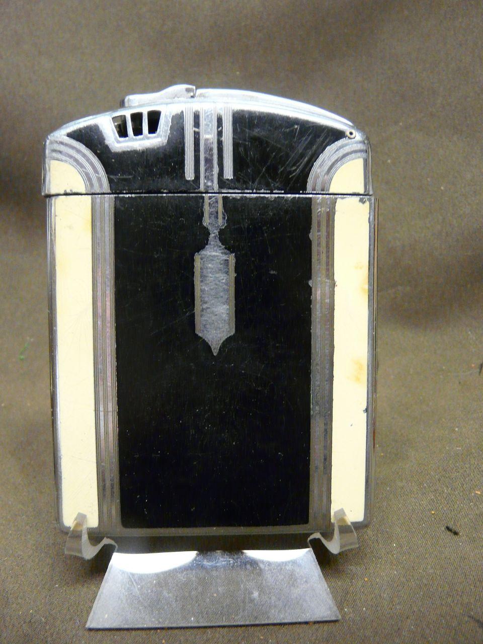 Vintage art deco ronson lighter cigarette case from for Classic art deco