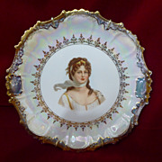 Rare Clarus Ware Queen Louise Of Prussia Portrait Plate