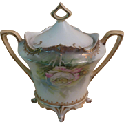 R. S. Prussia Covered Sugar Bowl